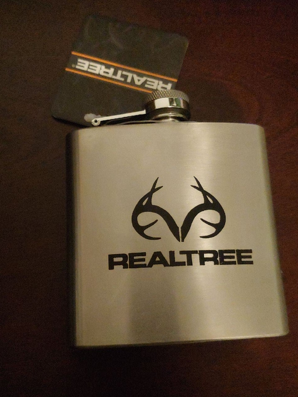 Realtree 6 oz. Stainless Steel Flask