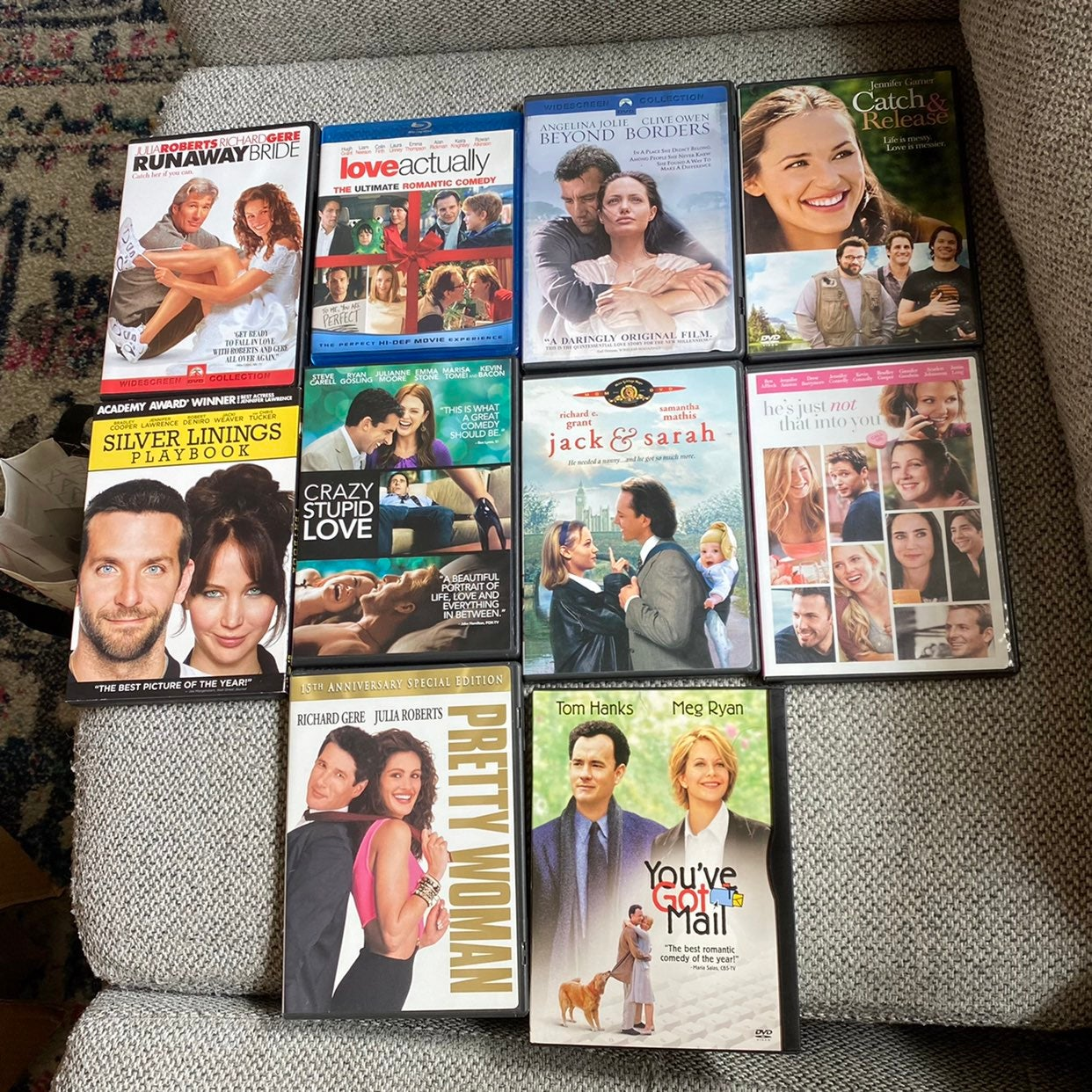 10 Romantic/Comedy Movies on DVD