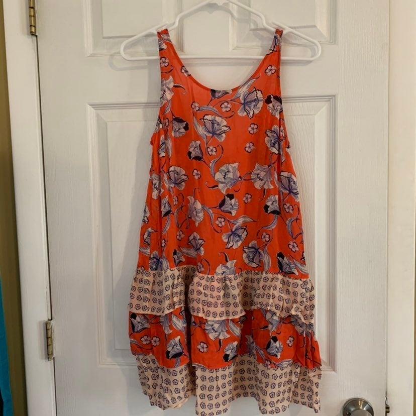 Minkpink orange floral sleeveless tunic