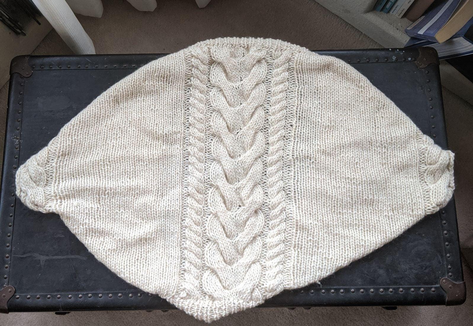 Cream Hand-knit Shrug