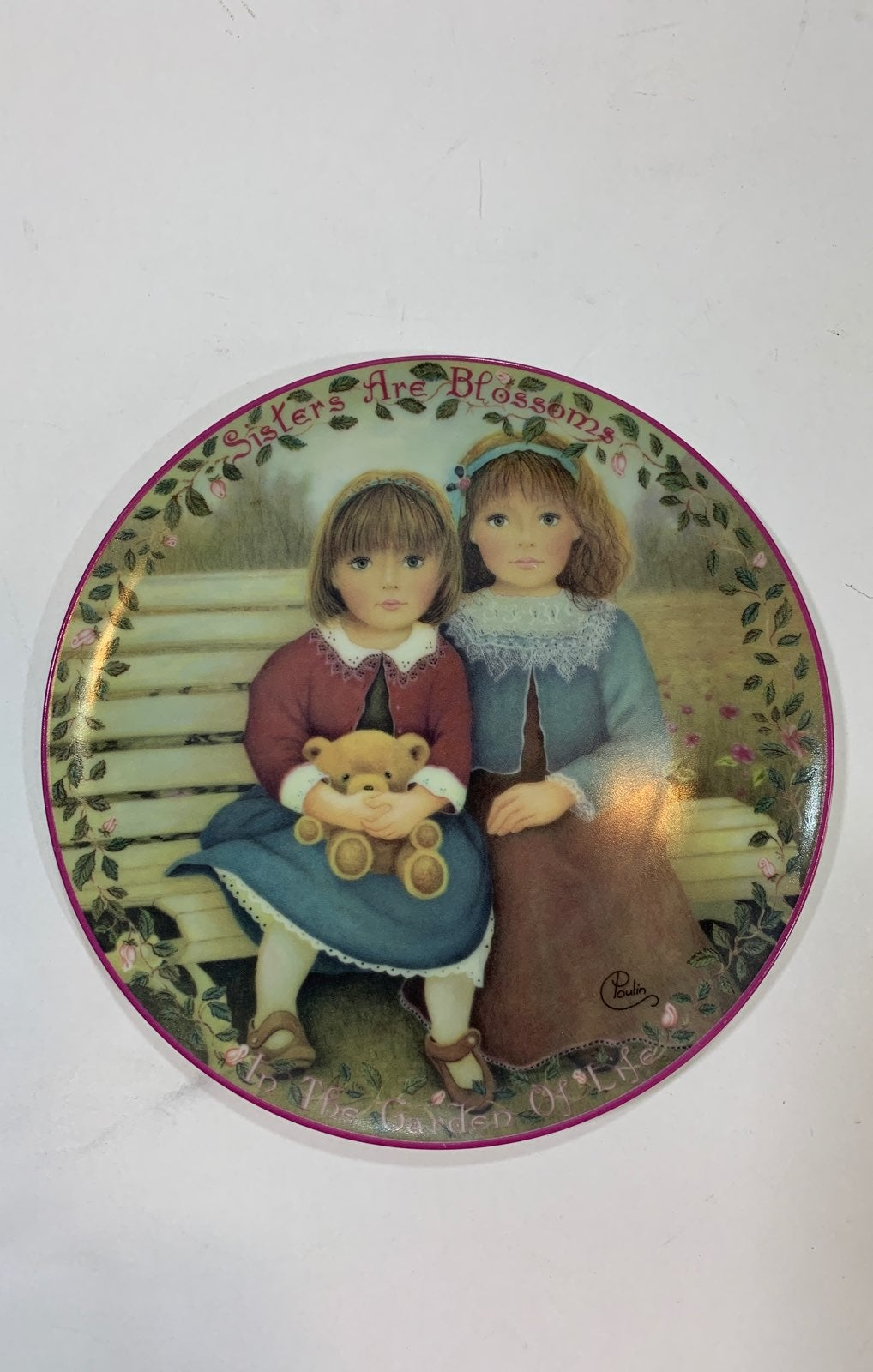 """Sisters Are Blossoms"" Plate 1995"