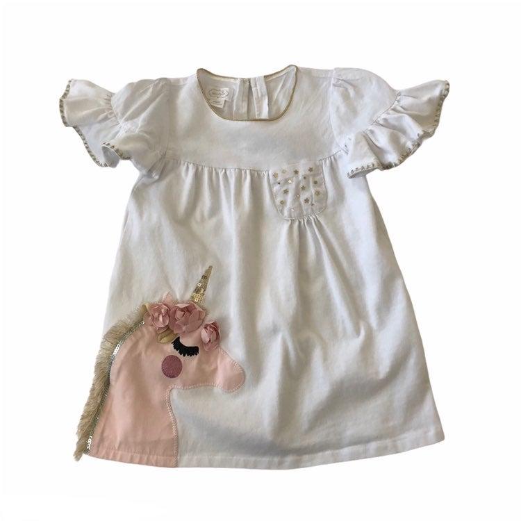 Mud Pie Unicorn Dress Sz 24/2t