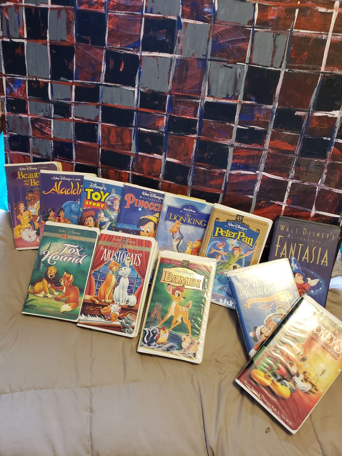 12 Disney VHS Movies