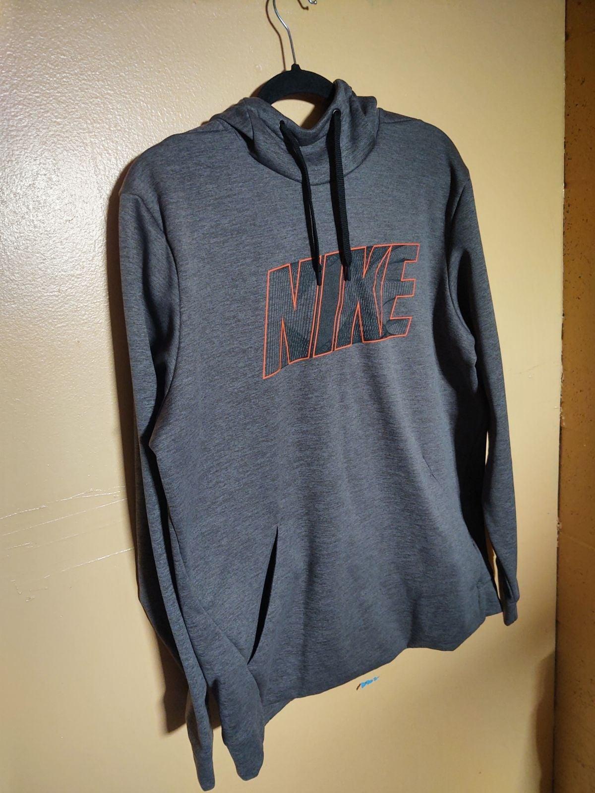 Nike grey orange sweater