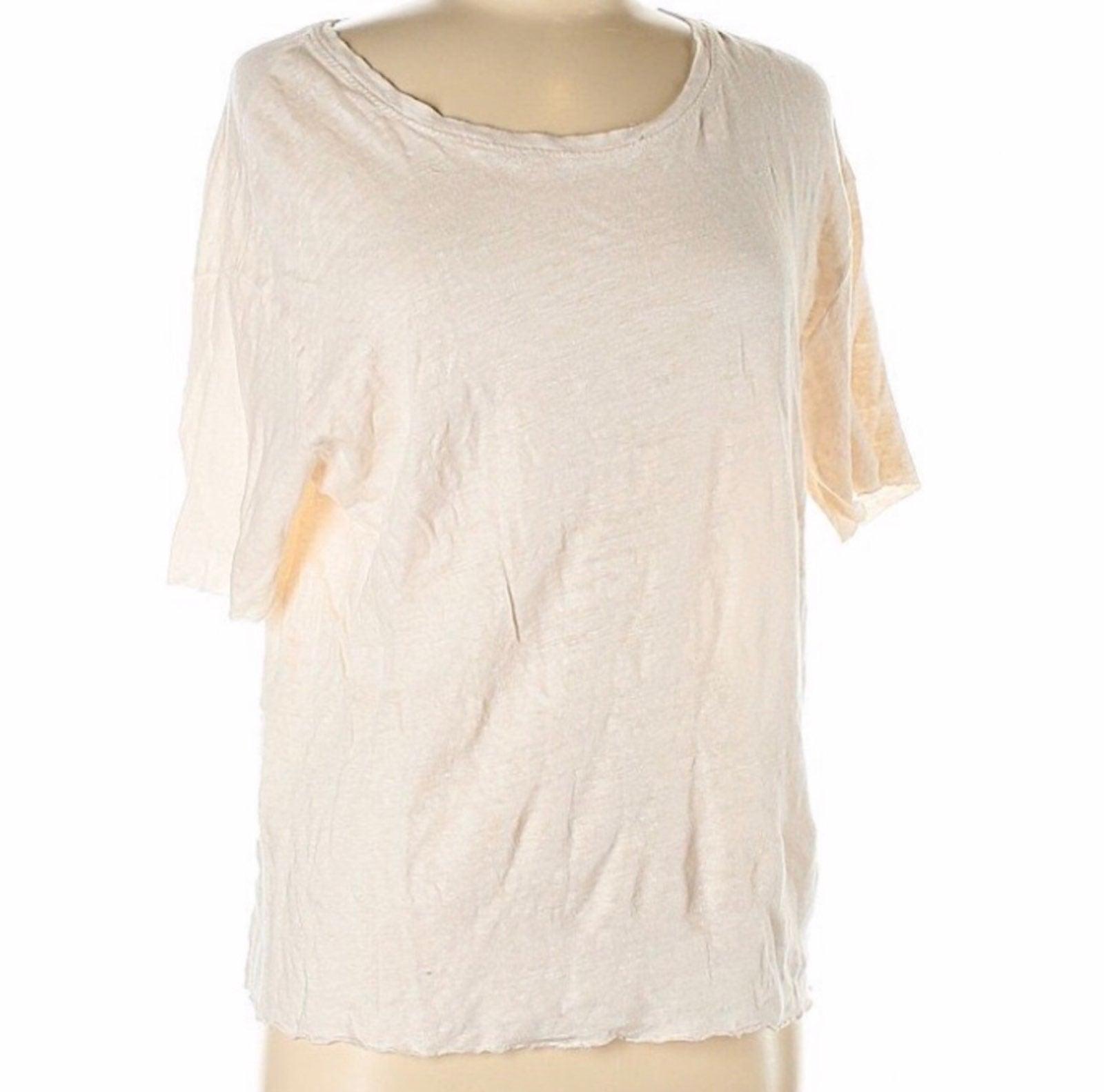 Zara Oversized Linen Tee Shirt Size M