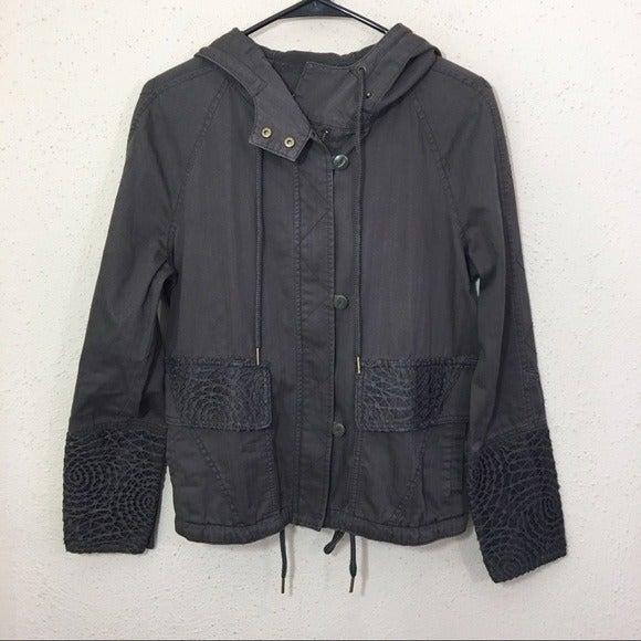 Anthropologie Hei Hei Lace Trim Jacket S
