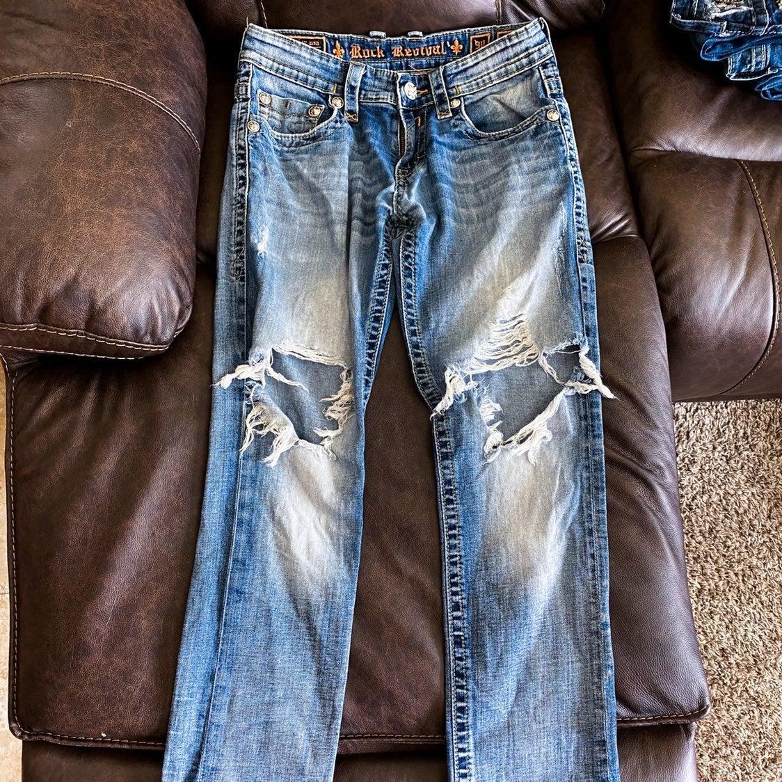 mens Rock Revival jeans size 30 Evan