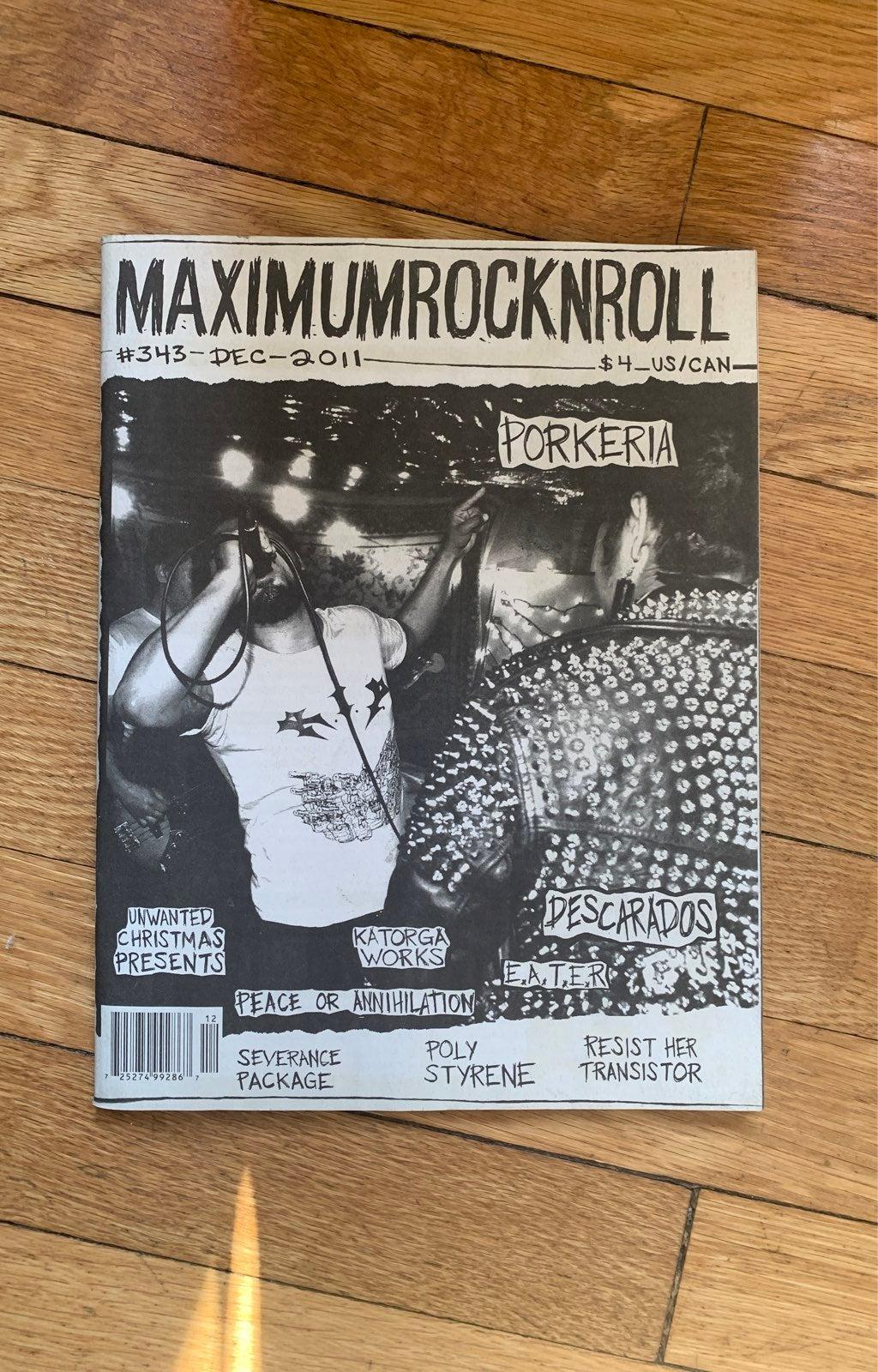 Maximum RocknRoll #343 Dec 2011