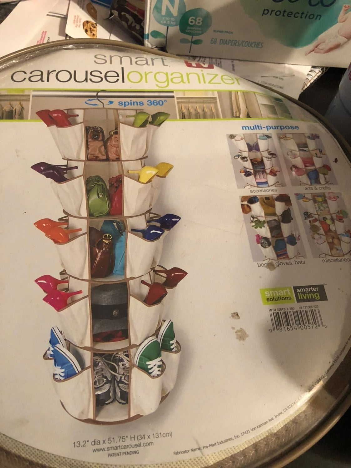 Smart carousel organizer