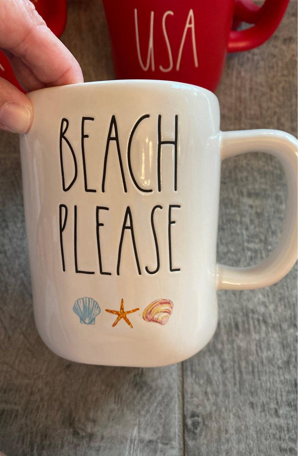Rae Dunn beach please mug
