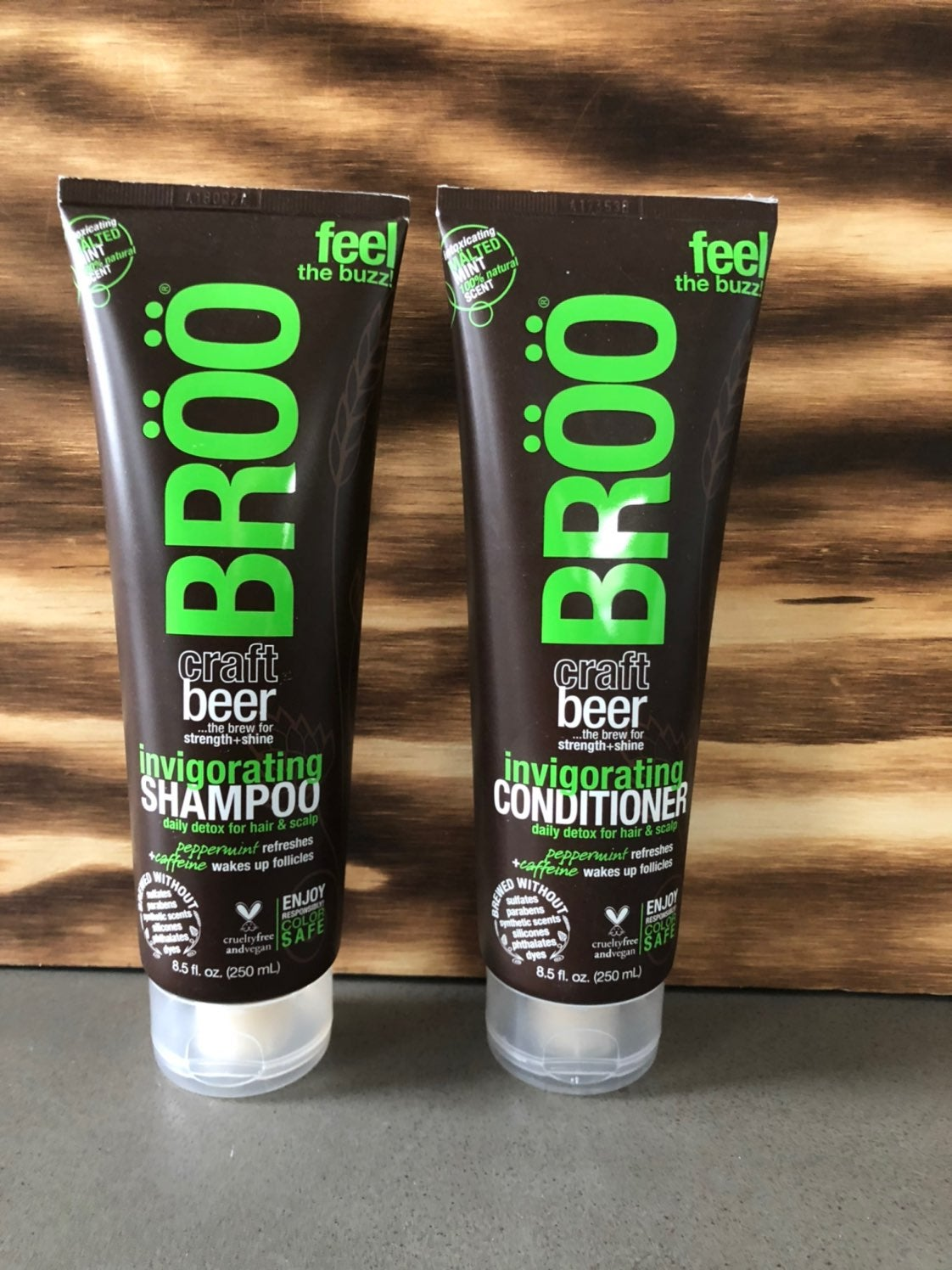 Broo Invigorating Beer Shampoo and Condi