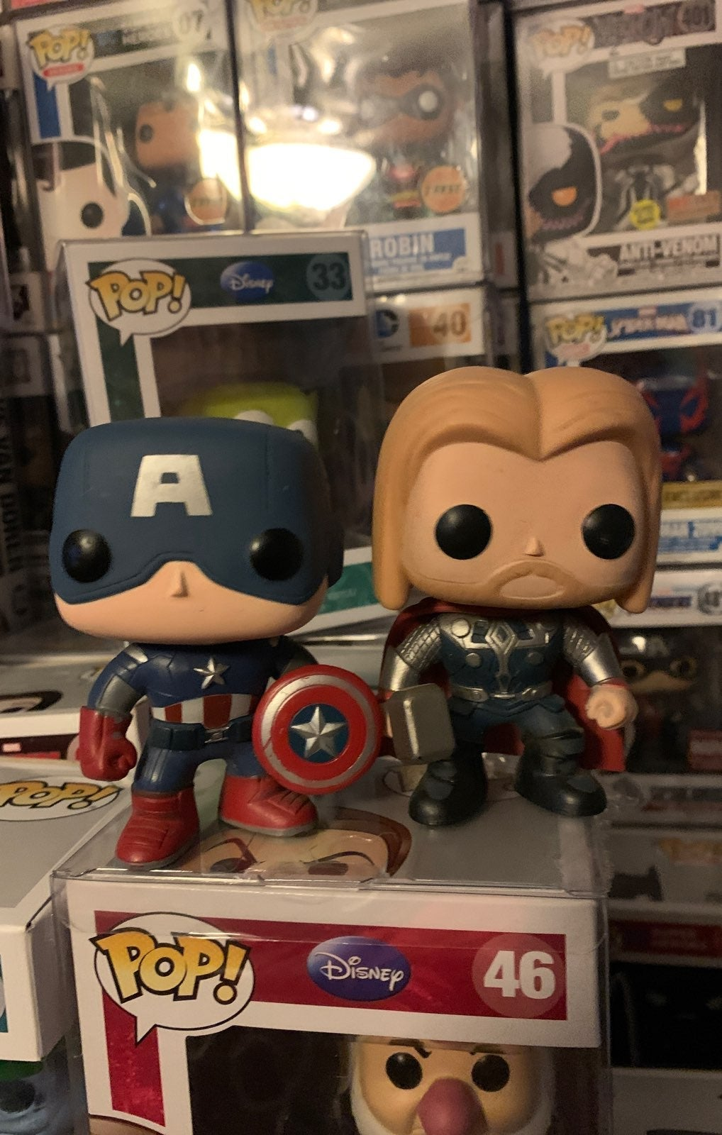 Firsr Avengers captain america and thor