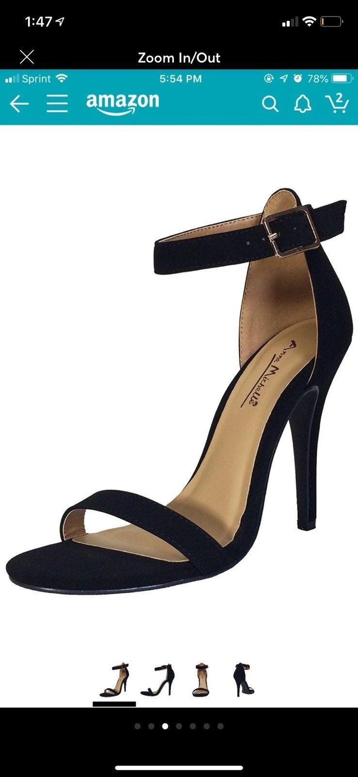 Anne Michelle Ankle Strap Heels