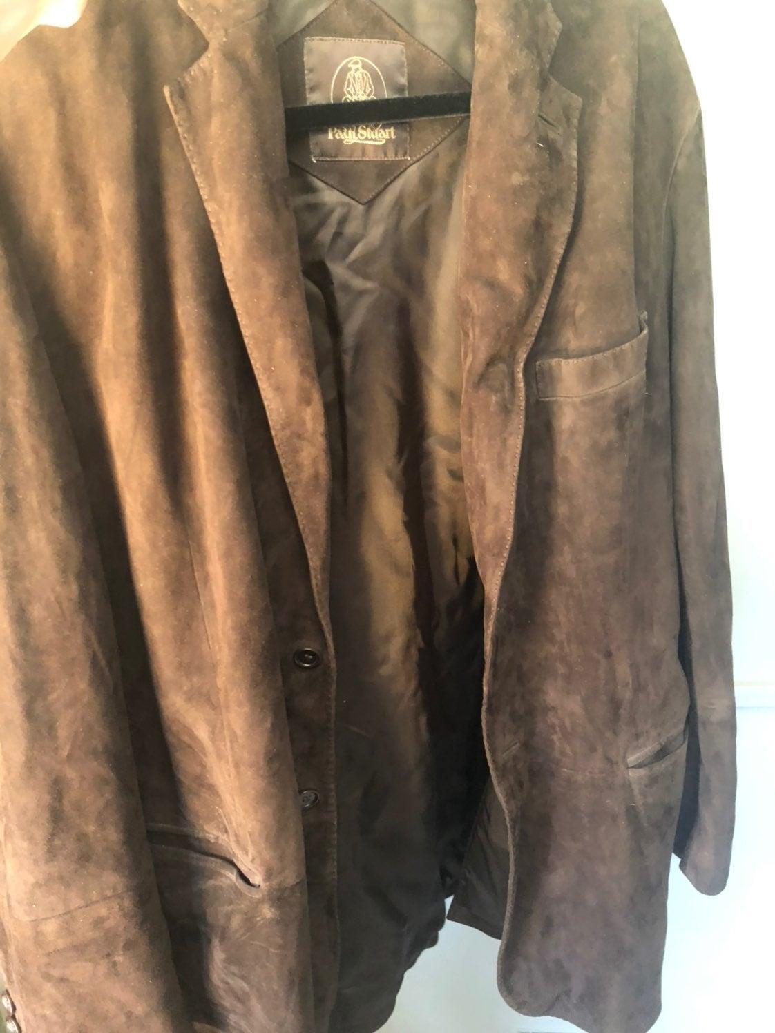 Paul Stuart suede leather jacket