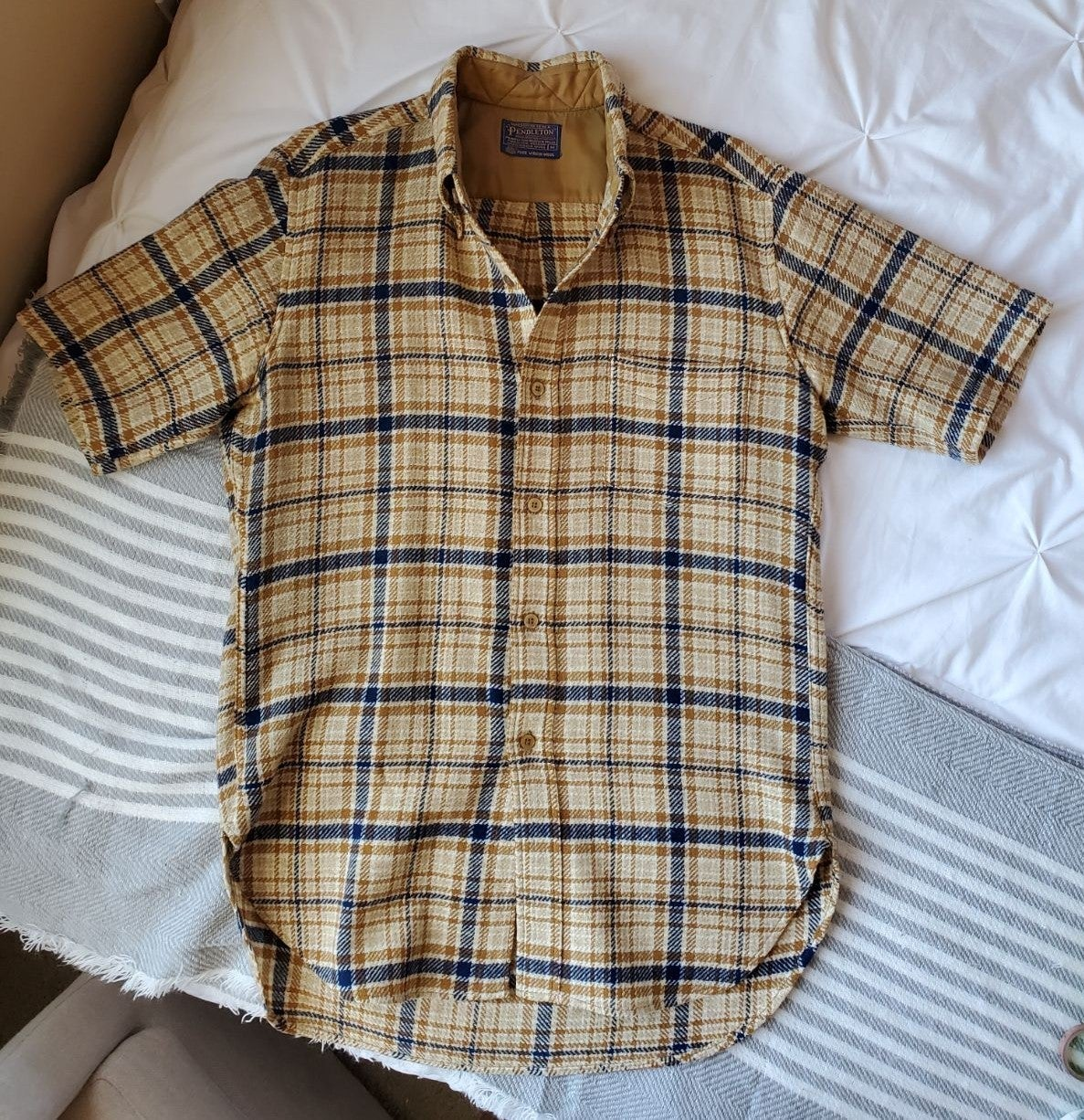 1970s Vintage Pendleton Plaid Wool Shirt