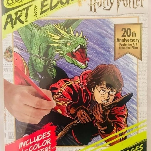 Crayola art harry potter anniv. book