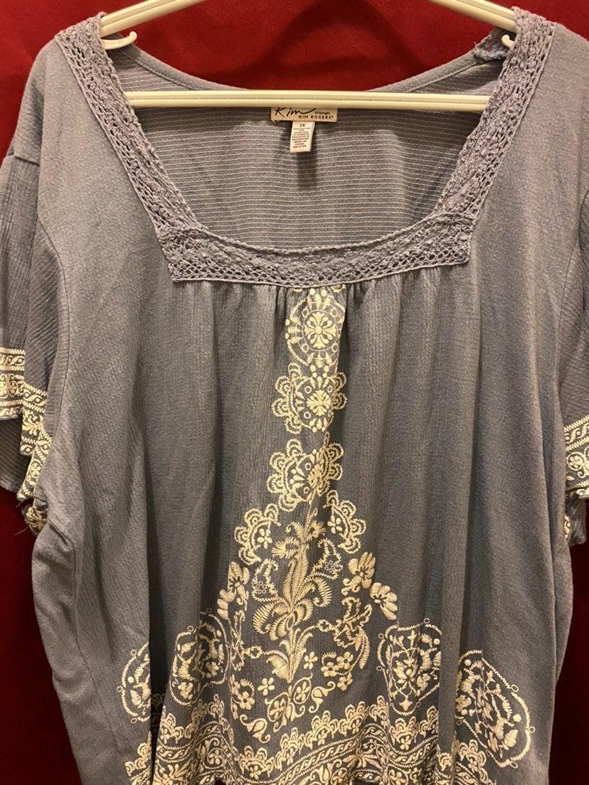 Kim Rogers boho style blouse