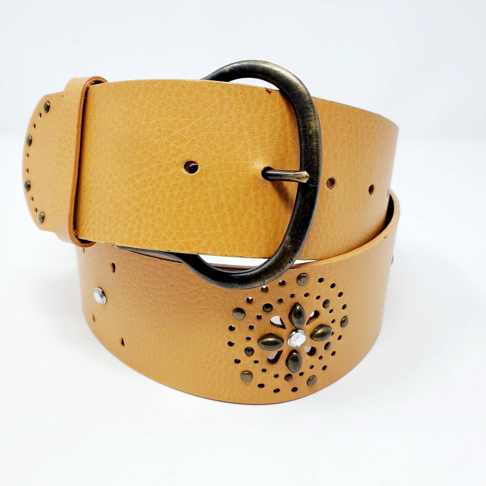Candie's Embellished Stud Leather Belt
