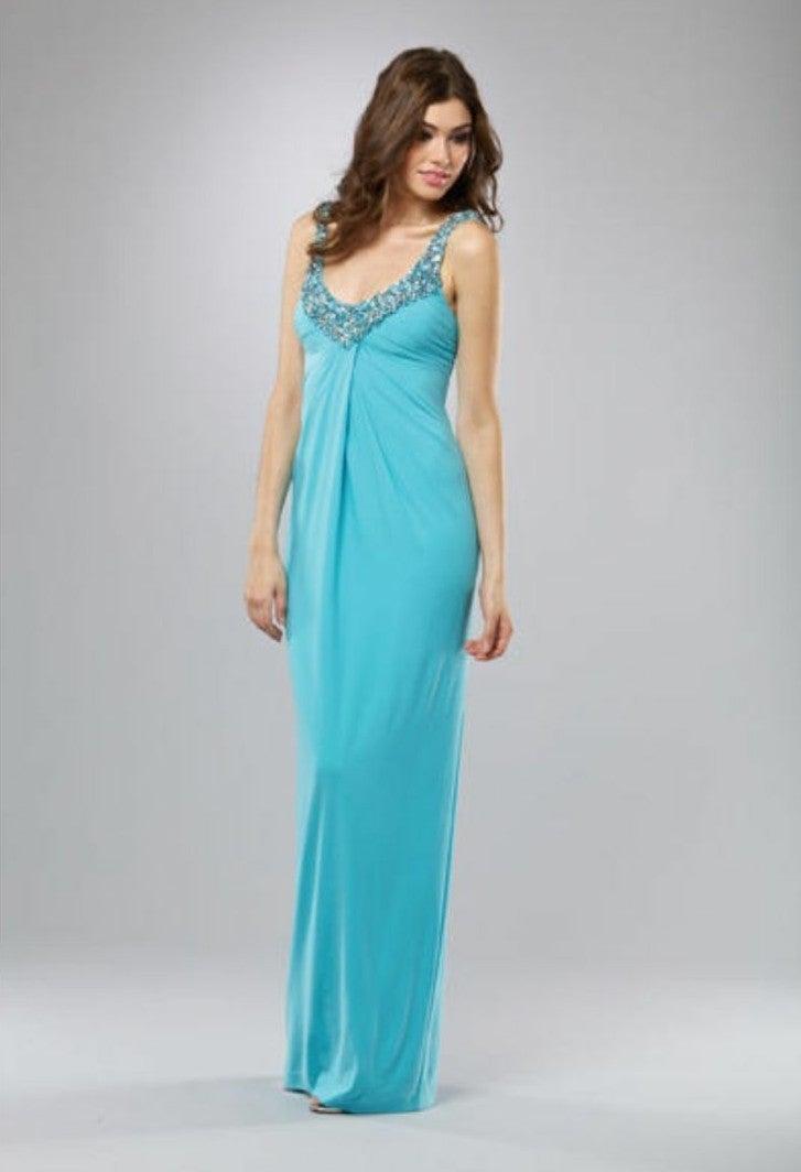 New Mignon V Neck Evening Dress