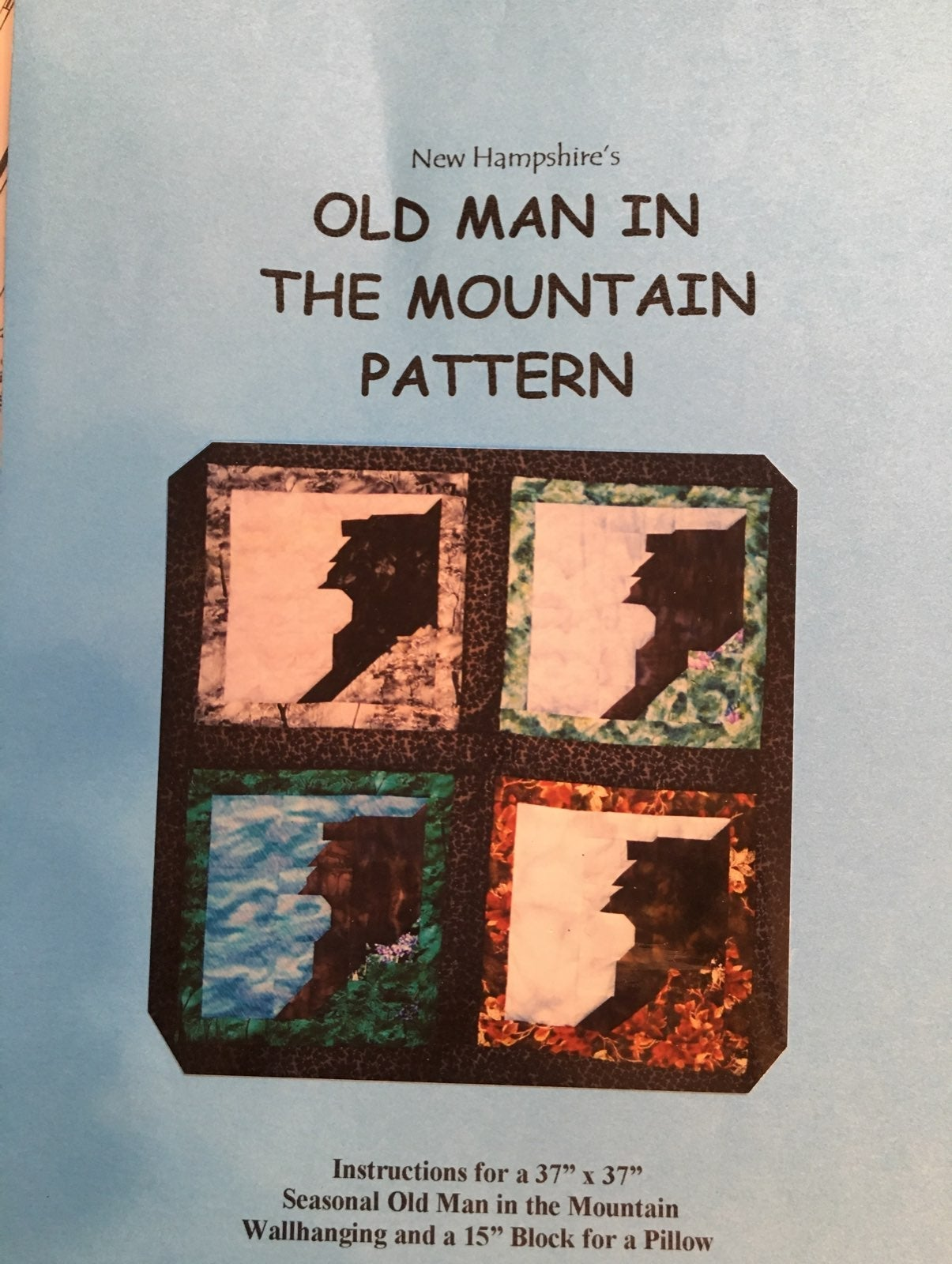 NH Old Man In The Mountain Quilt Pattern