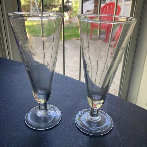Princess House pilsner Glasses