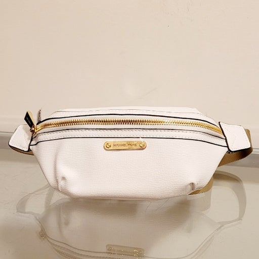 Michael Kors Leather Fanny Pack White