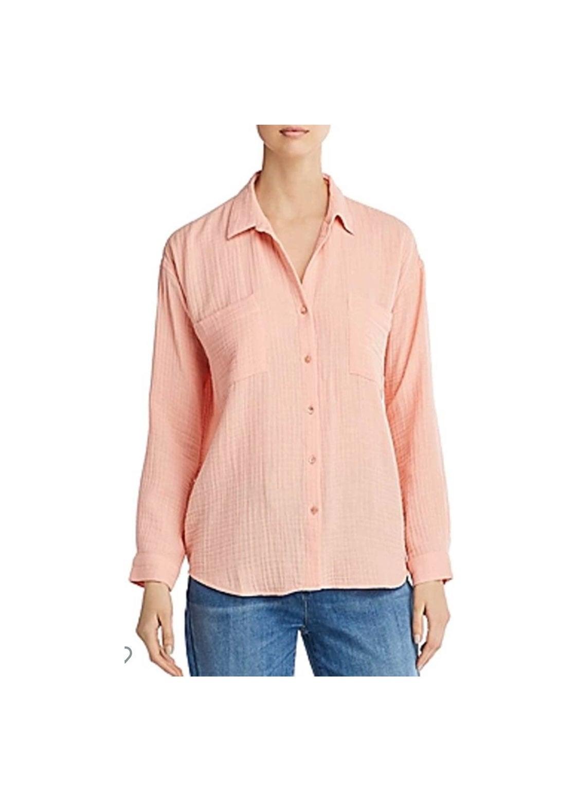 Eileen Fisher Lofty Gauze Shirt Large