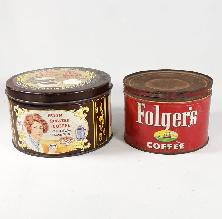 VTG '52 Folgers Coffee & Mr Coffee Tin