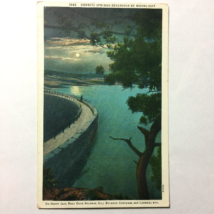 Granit Springs Reservoir Postcard 1938