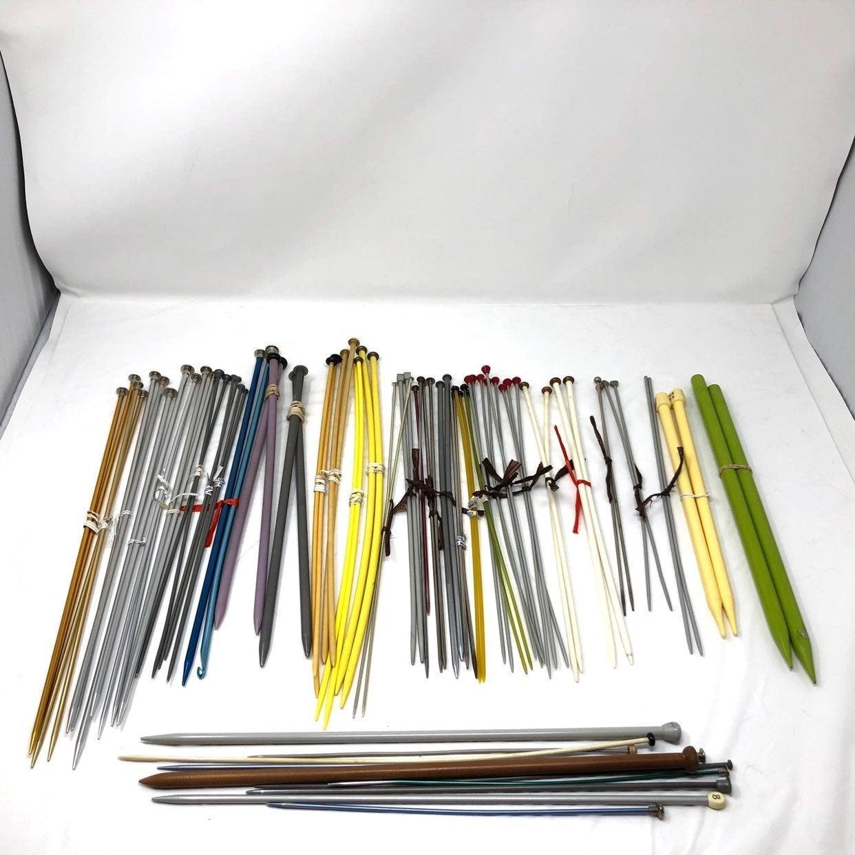 Lot of knitting needles