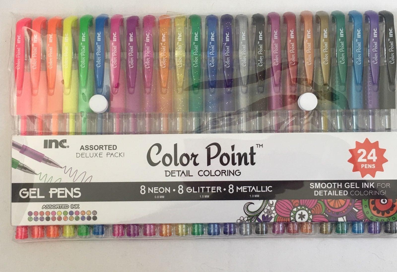 Gel Pens 24 Neon Glitter Metallic Inks