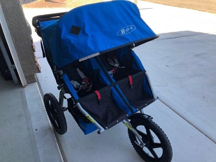 Bob double stroller fixed wheel