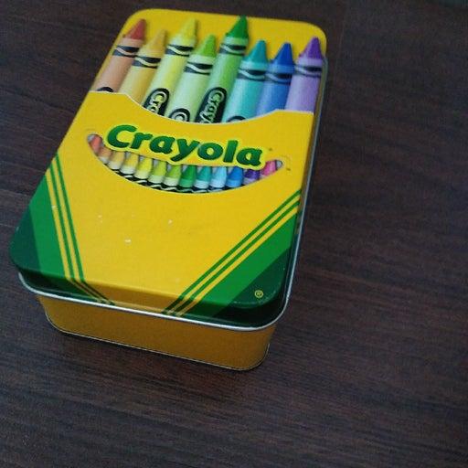 Crayola tin storage box