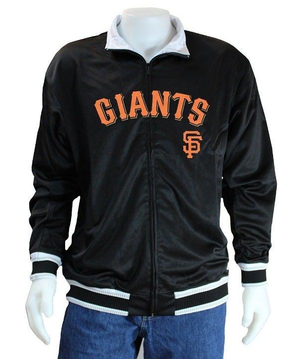 STITCHES SF Giants Black Track Jacket