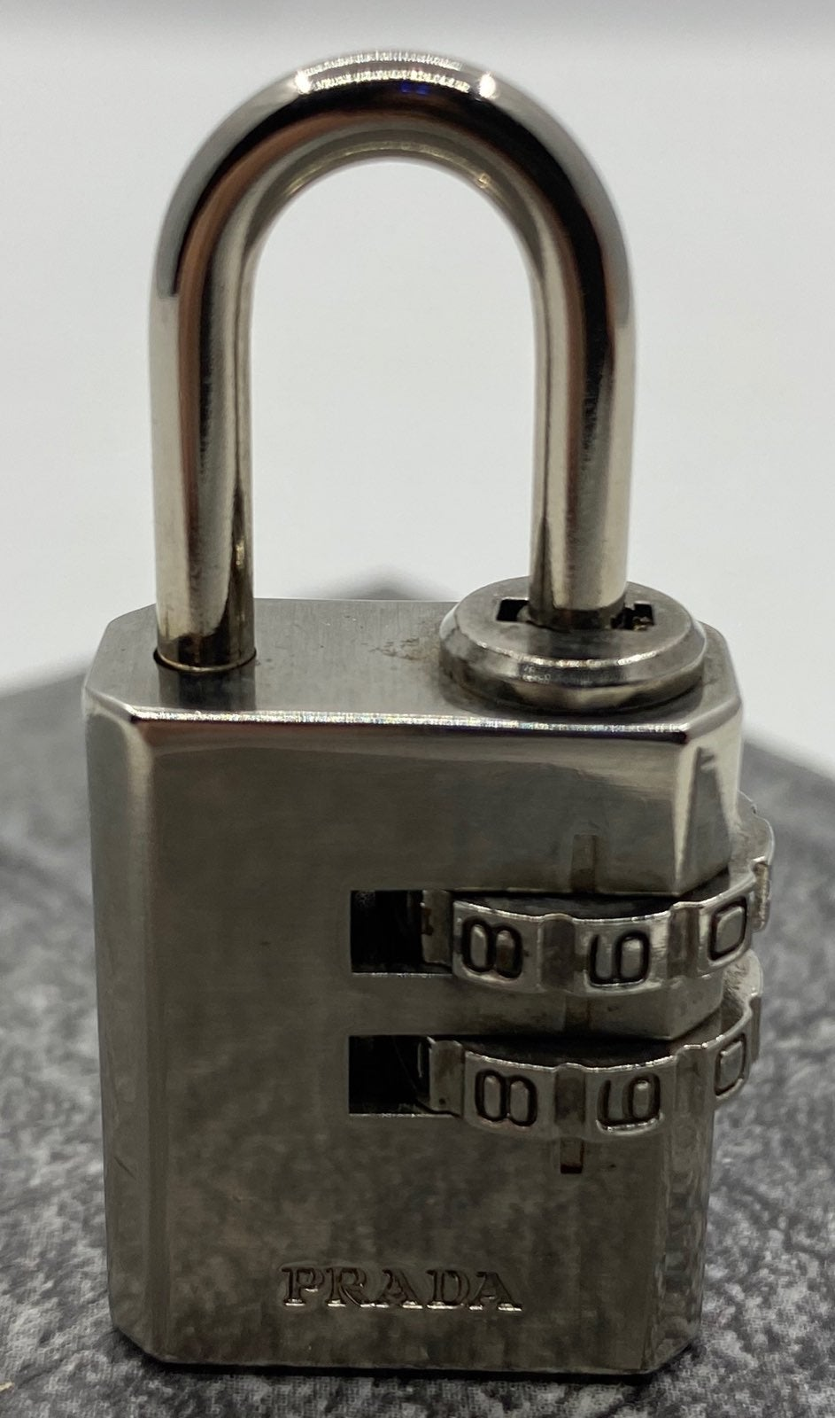 PRADA Silver Combination Lock