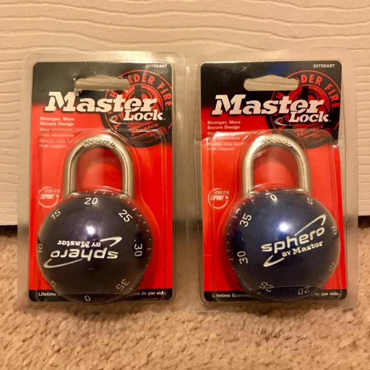 Set Of Two Sphero Master Locks Brand New