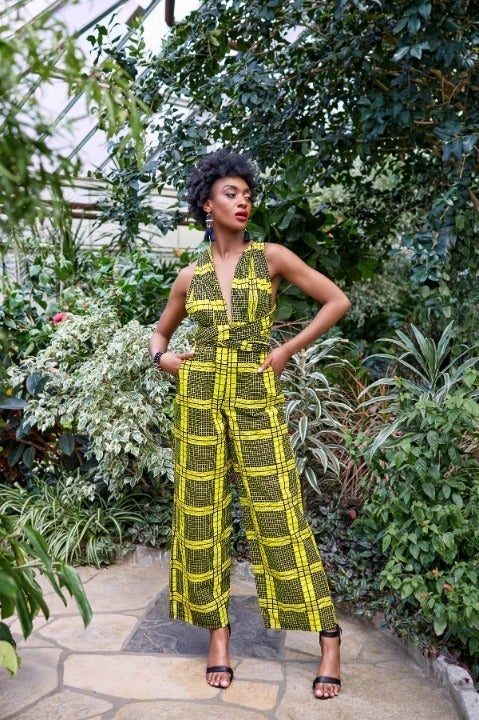 Large Jazzy Infinity Yellow Jumpsuit