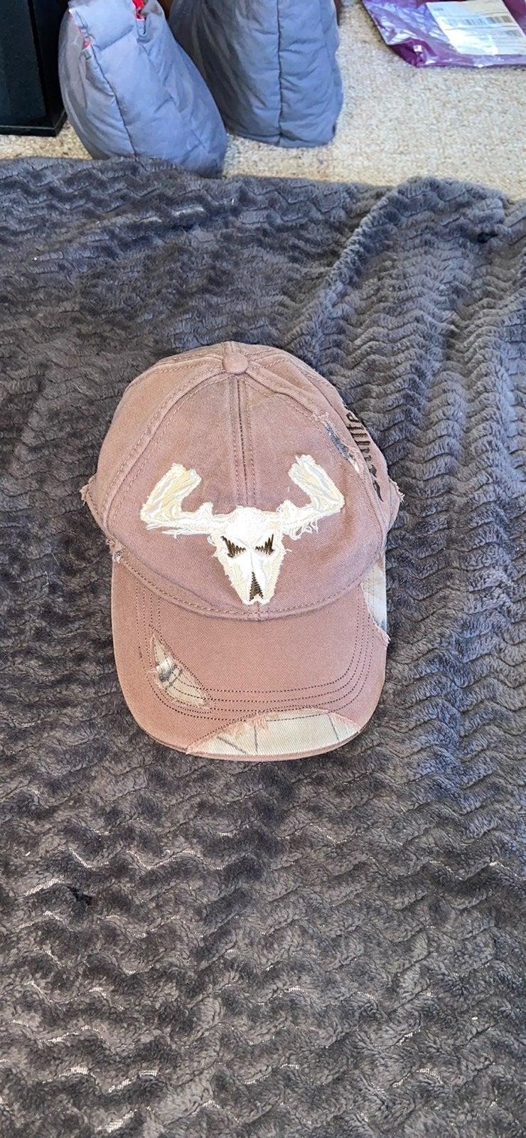Brown deer skull cap