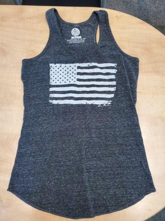 Women's American Flag Racerback Tank Top