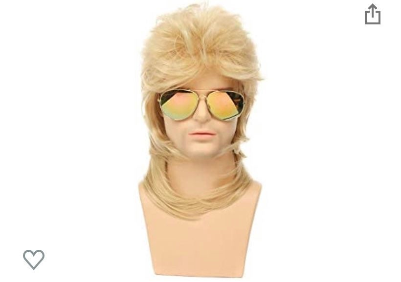 70's 80's blond synthetic mullet