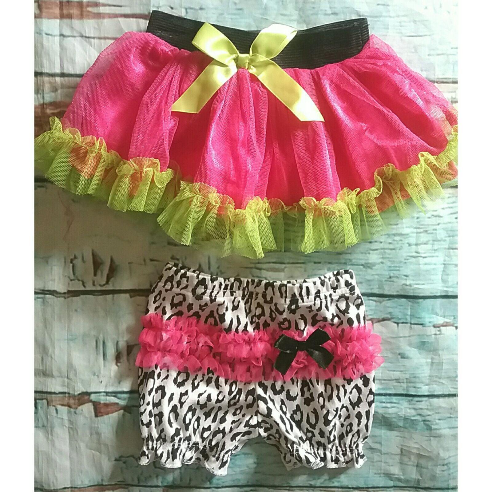 Infant girls tulle & animal print bundle