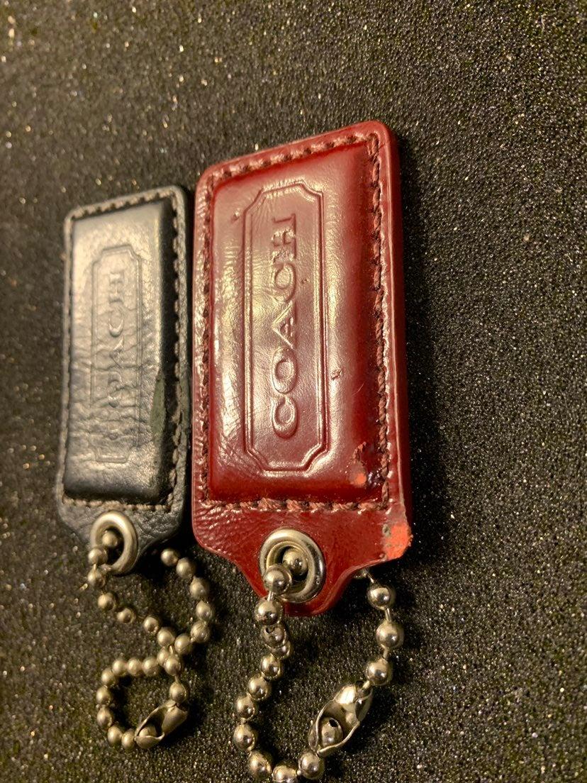 Authentic coach bag tags