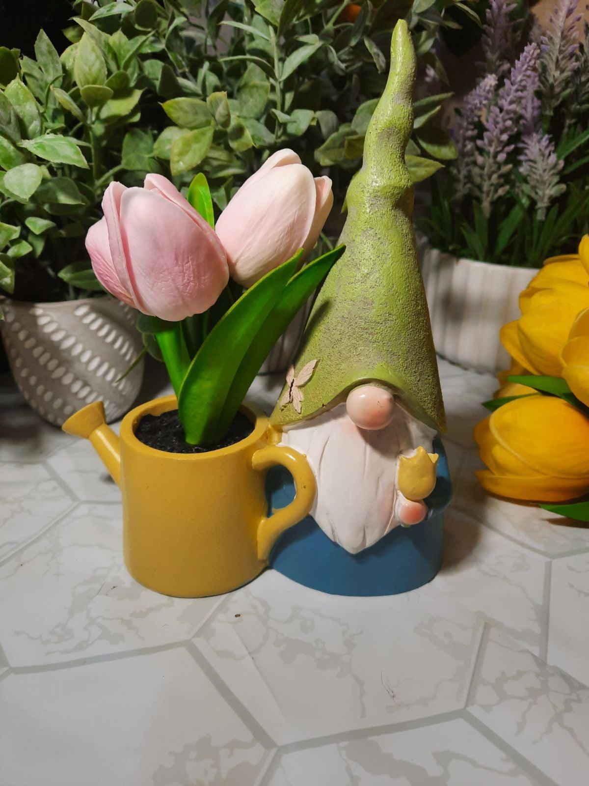 Faux Flower gnome