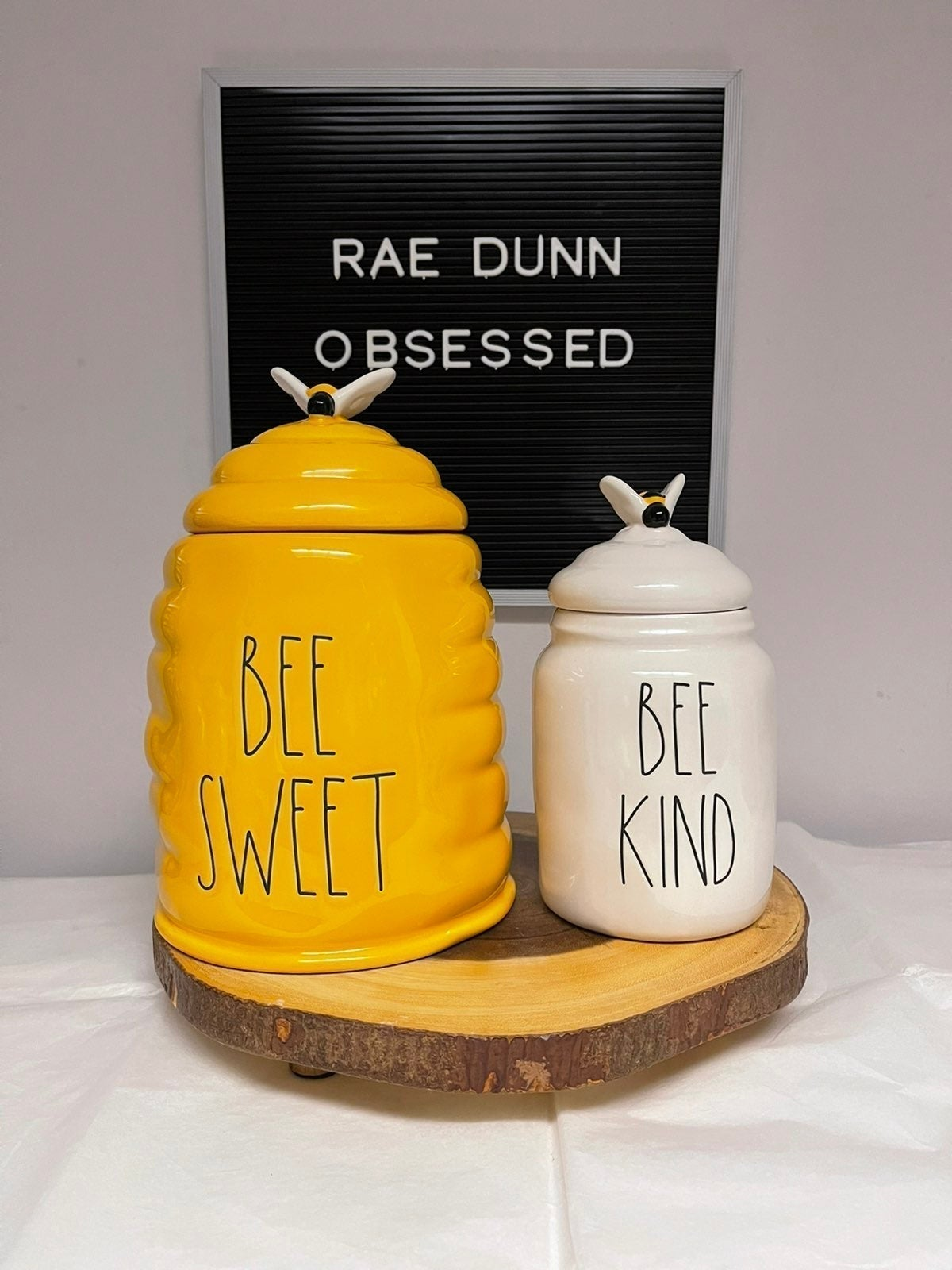 Rae Dunn BEE SWEET & BEE KIND Canisters