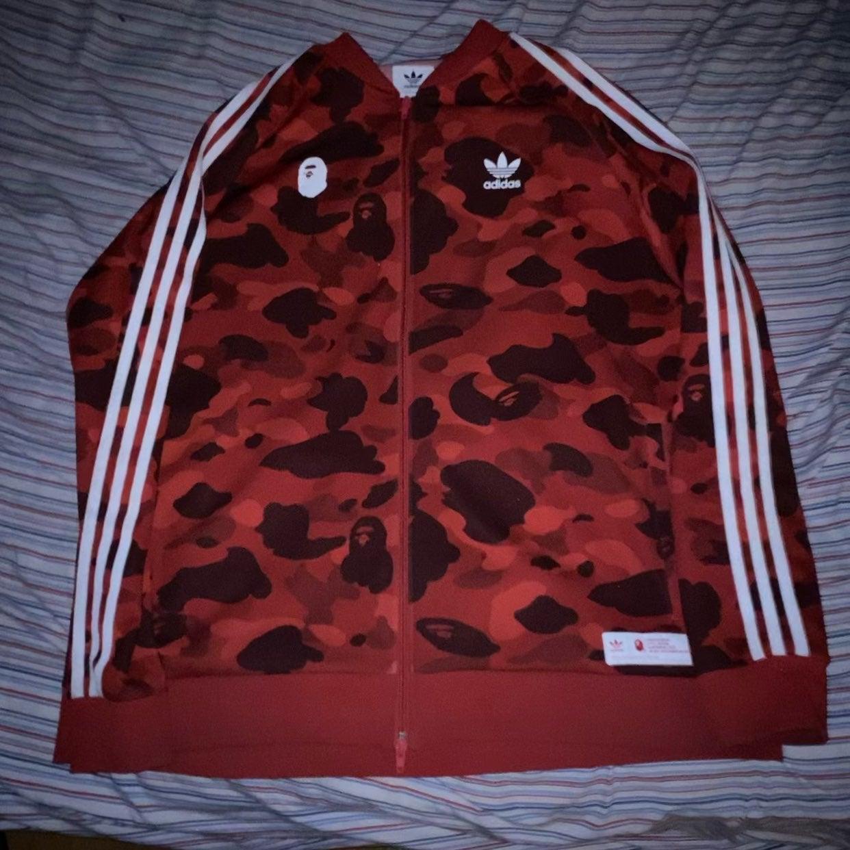 Bape Adidas Track jacket sz XXL