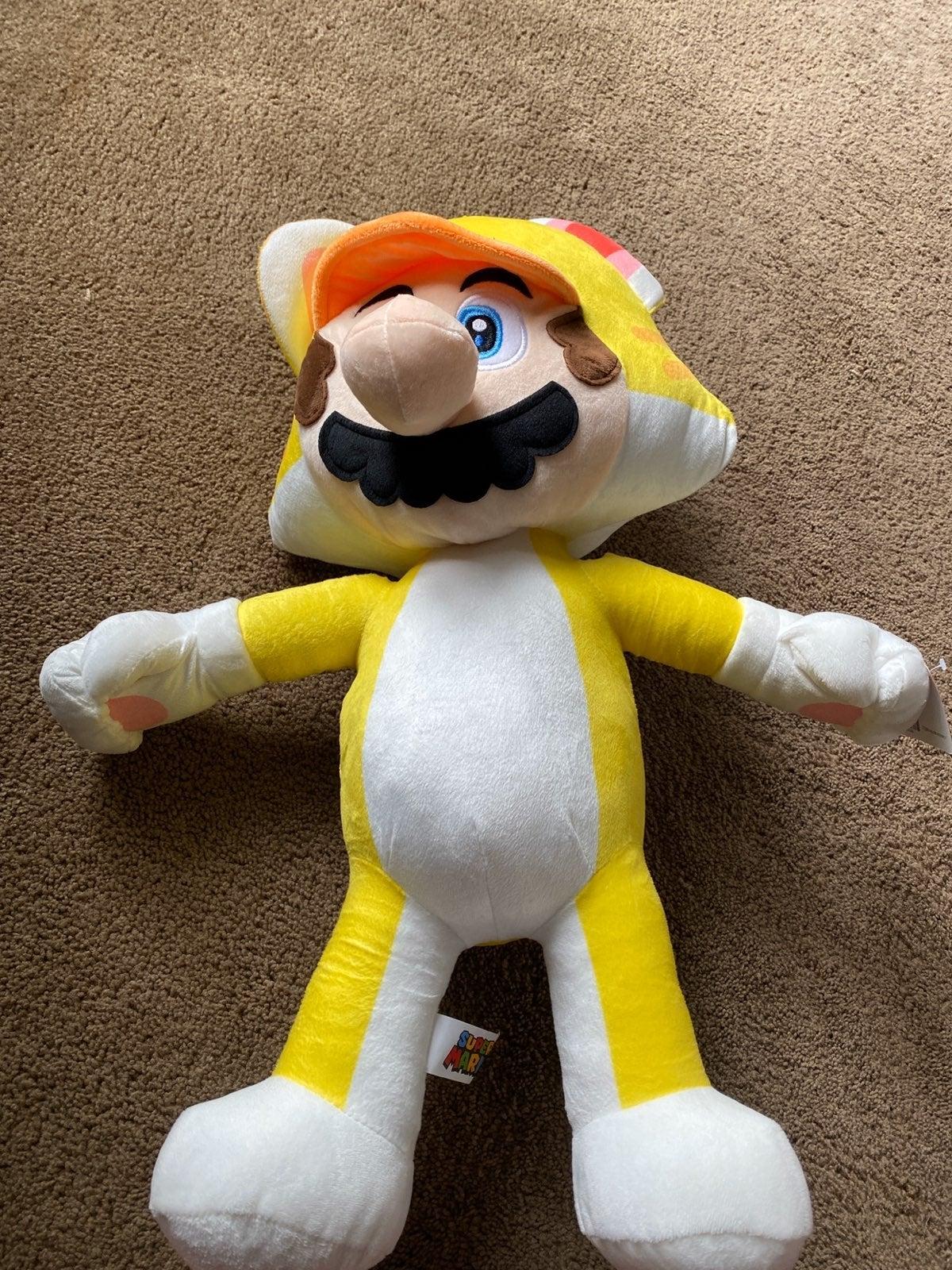 Huge Mario Cat Plush! (Over 2ft)!