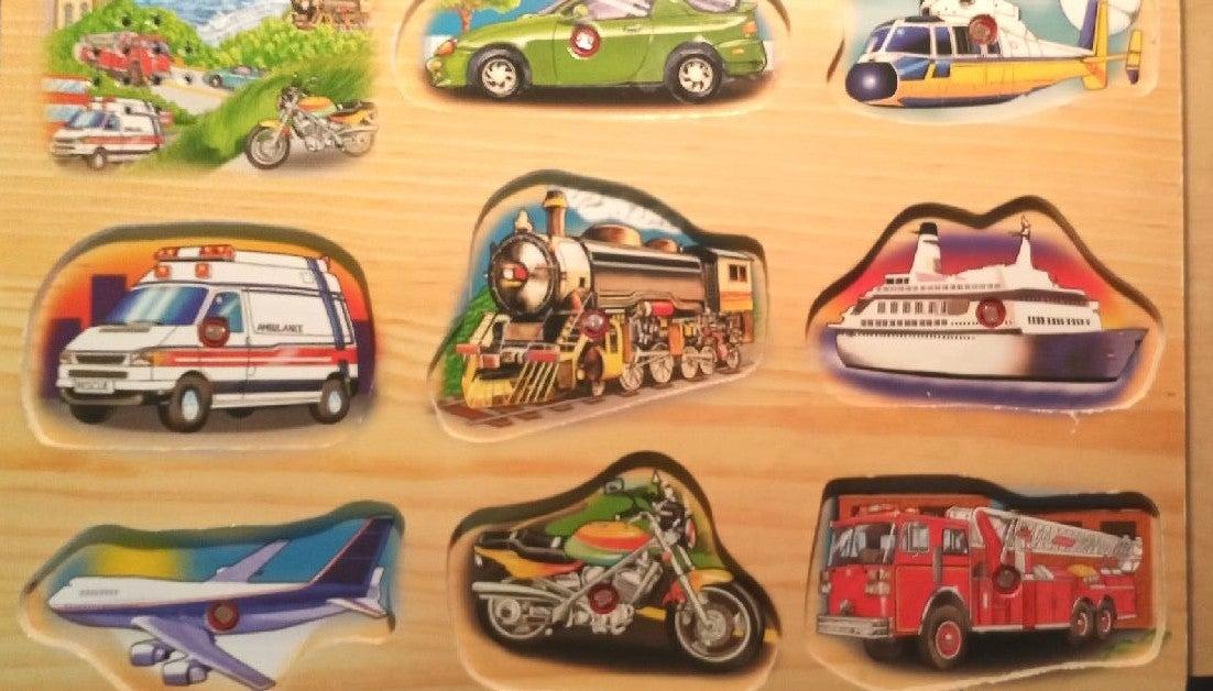 Wooden Vehicle Sound Puzzle