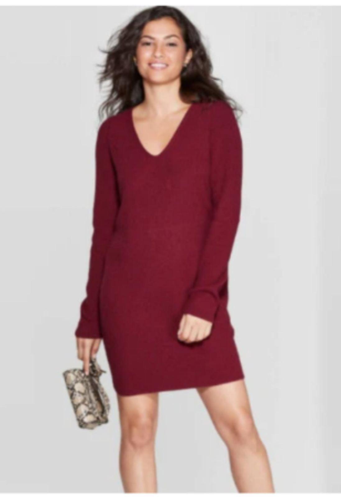 A New Day V-Neck Sweater Dress Size SM