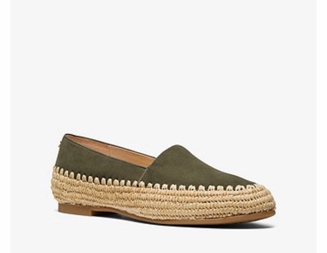 Michael Kors bahia and suede olive shoes