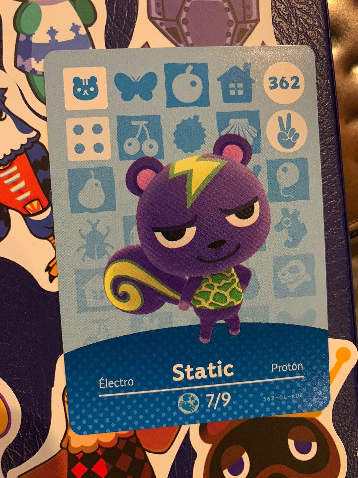 Static Animal Crossing Amiibo Card